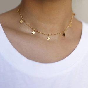 Dainty Gold Star Choker